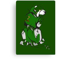 Green Voltron Lion Cubist Canvas Print