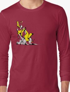 Yellow Voltron Lion Cubist Long Sleeve T-Shirt