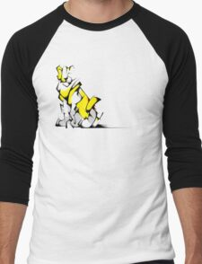 Yellow Voltron Lion Cubist Men's Baseball ¾ T-Shirt