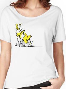 Yellow Voltron Lion Cubist Women's Relaxed Fit T-Shirt