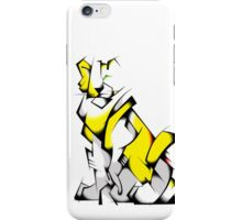 Yellow Voltron Lion Cubist iPhone Case/Skin