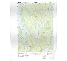 Maine USGS Historical Map Mechanic Falls 20110902 TM Poster