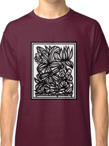 Philander Flowers Black and White Classic T-Shirt