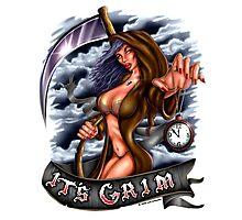 It's Grim (Sexy Reaper) Photographic Print