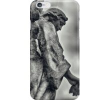 Stone Angel over shoulder iPhone Case/Skin