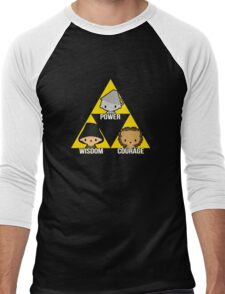 Triforce Of Oz Men's Baseball ¾ T-Shirt