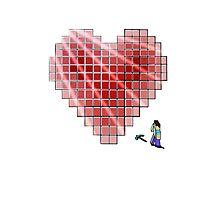 Minecraft Heart Photographic Print