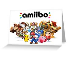 Amiibo Super Smash Bros Greeting Card