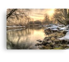 Along the Thames River  Canvas Print