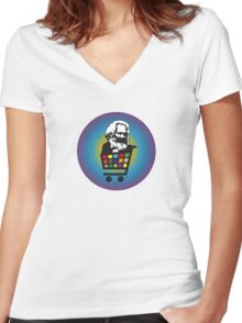 e-Marxism Women's Fitted V-Neck T-Shirt