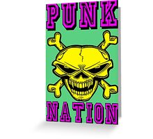 PUNK NATION Greeting Card