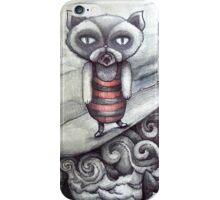 surfing grumpy cat art iPhone Case/Skin