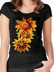 Stunning Flower Women's Fitted Scoop T-Shirt