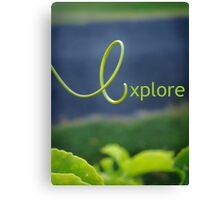 e is for explore Canvas Print