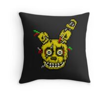 Five Nights at Freddy's 3 - Pixel art - SpringTrap / Golden Bonnie / Rotten Bonnie Throw Pillow