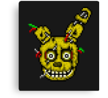 Five Nights at Freddy's 3 - Pixel art - SpringTrap / Golden Bonnie / Rotten Bonnie Canvas Print