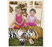 Twins with Twins Photographic Print