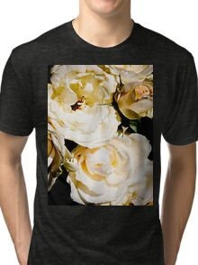 Beautiful White Roses Tri-blend T-Shirt