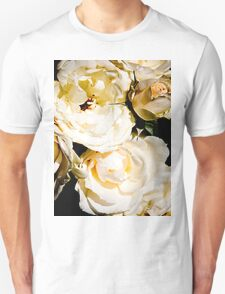 Beautiful White Roses Unisex T-Shirt