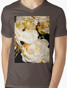 Beautiful White Roses Mens V-Neck T-Shirt