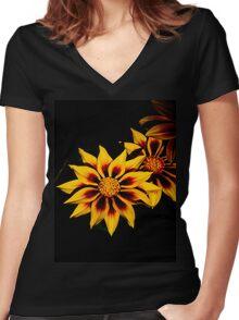 Stunning Flower Women's Fitted V-Neck T-Shirt