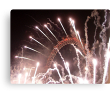 New Years The Eye London - 2007 Canvas Print