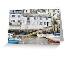 Harbour Steps at Polperro Greeting Card