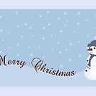 Merry Christmas Snowman by Leisa  Hennessy