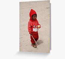 Peruvian Boy Greeting Card