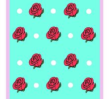 Rose Polka Dot phone case by dobiegerl