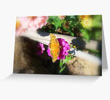 Butterfly Gardening Greeting Card