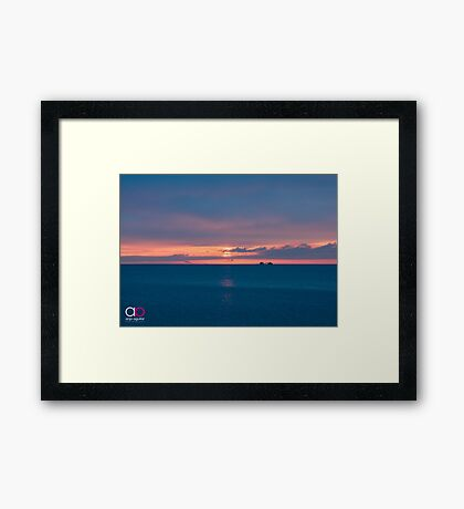 Sunrise and Lake Michigan Framed Print