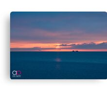 Sunrise and Lake Michigan Canvas Print