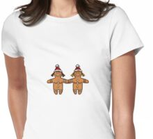 lesbian gingerbread couple Womens Fitted T-Shirt