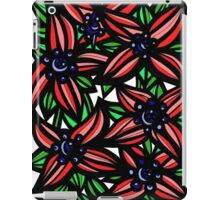 Portfolio Flowers Red Green Blue iPad Case/Skin