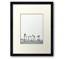 Bleached Beach Framed Print
