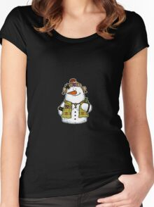 butch snow woman Women's Fitted Scoop T-Shirt