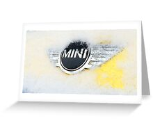Mini Cooper with snow Greeting Card