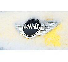 Mini Cooper with snow Photographic Print