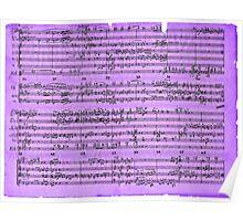 Purple Sheet Music Poster