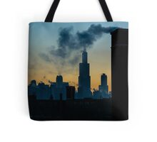 Sears, Smoke, Silhouette Tote Bag