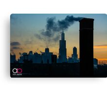Sears, Smoke, Silhouette Canvas Print