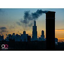 Sears, Smoke, Silhouette Photographic Print