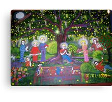 NEW... second version- Under the old pear tree at christmas  Canvas Print