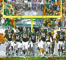 Go Sparty Goalposts by John Farr