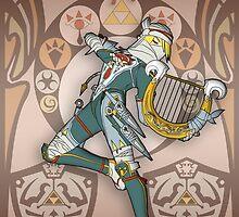 Zelda Art Nouveau Poster (Zelda) by CalvertSheik