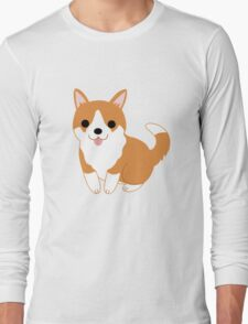 cute corgi pup Long Sleeve T-Shirt