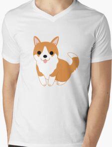 cute corgi pup Mens V-Neck T-Shirt
