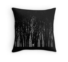 Edward Snowden in the woods Throw Pillow