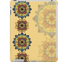Yellow pattern with mandalas iPad Case/Skin
